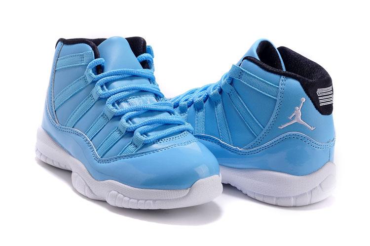2015 Kids Jordan 11 Baby Blue White