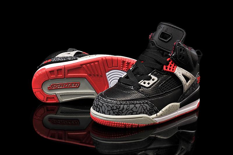 Kids Air Jordan Spizike 3.5 Black Grey Red