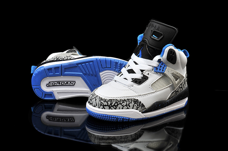 2015 Kids Air Jordan Spizike 3.5 White Grey Blue