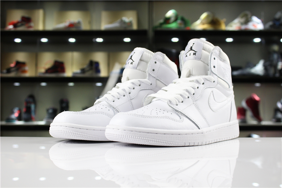 Mens and WMNS Air Jordan 1 High White Half Heart