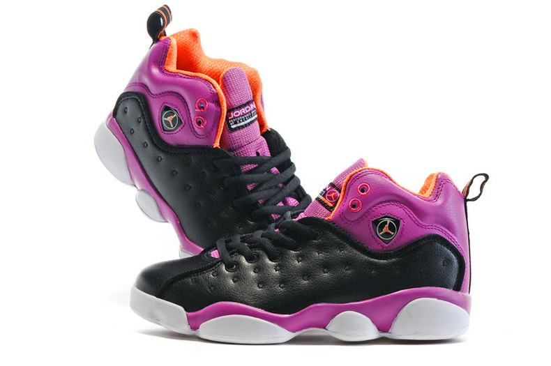 New Air Jordan Team 2 GS Black Purple Shoes For Sale