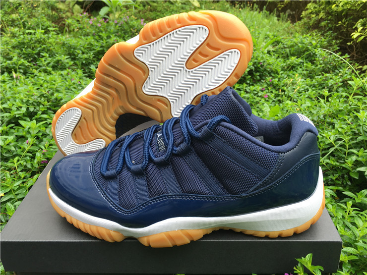 New Air Jordan 11 Low Navy Gum Basketball Shoes