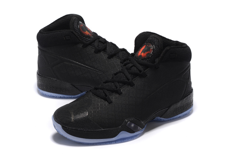 New Air Jordan 30 All Black Orange Basketball Shoes