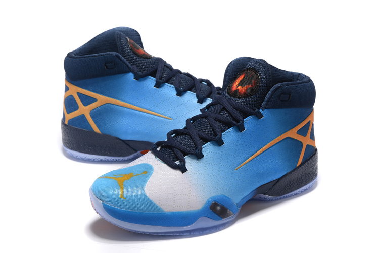 New Air Jordan 30 Blue Black Orange On Sale