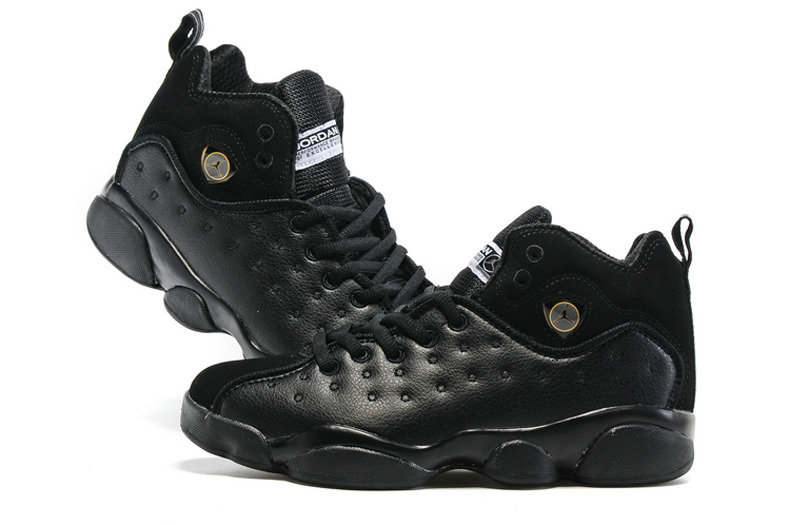 New Air Jordan Team 2 GS All Black Shoes For Sale