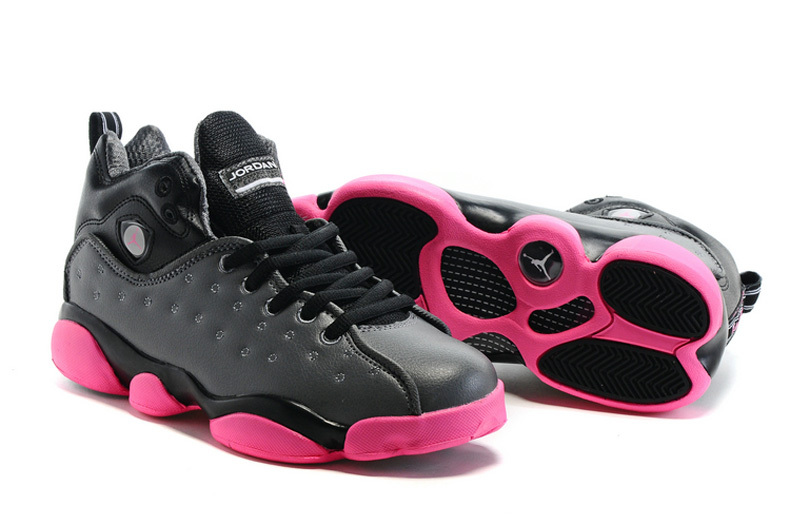 New Air Jordan Team 2 GS Dark Grey Pink Shoes For Sale