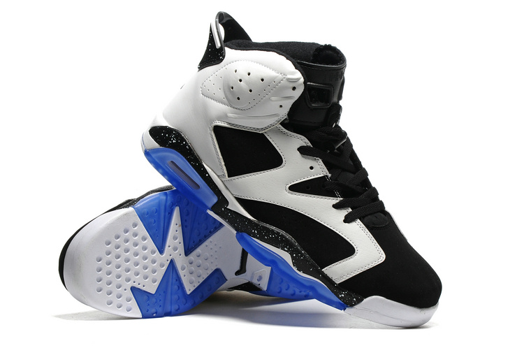 New Classic Air Jordan 6 Black White Basketball Shoes