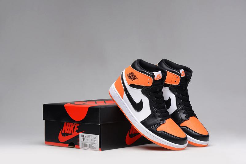 2015 Air Jordan 1 Slam Dun Shoes Black Orange White