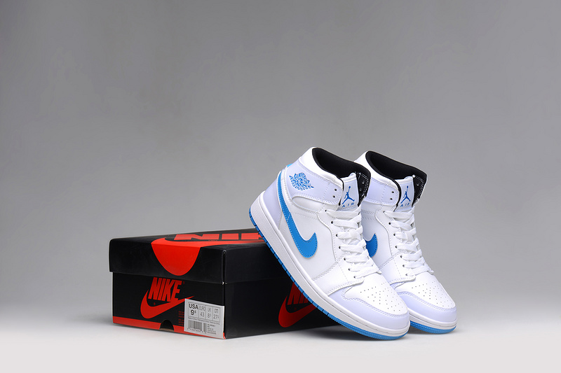 2015 Air Jordan 1 Shoes White Blue