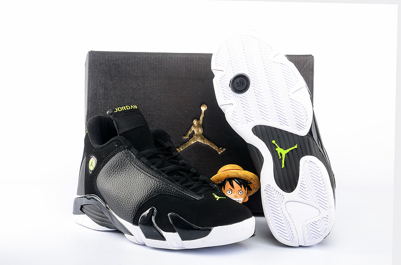 2016 Air Jordan 14 Indiglo Black Green Shoes