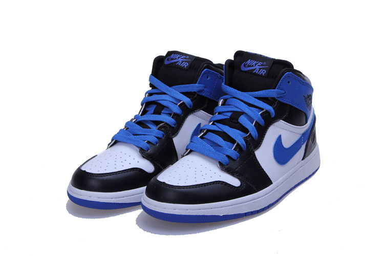 2015 New Jordan 1 Blue Black White Lovers