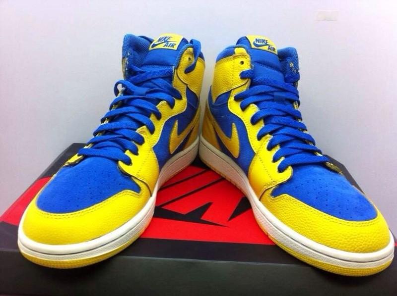 2015 New Jordan 1 Blue Yellow Retro