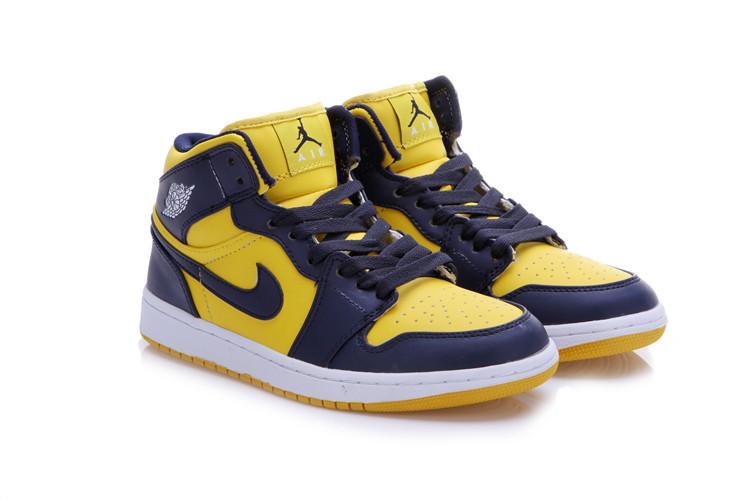 2015 New Jordan 1 Dark Blue Yellow