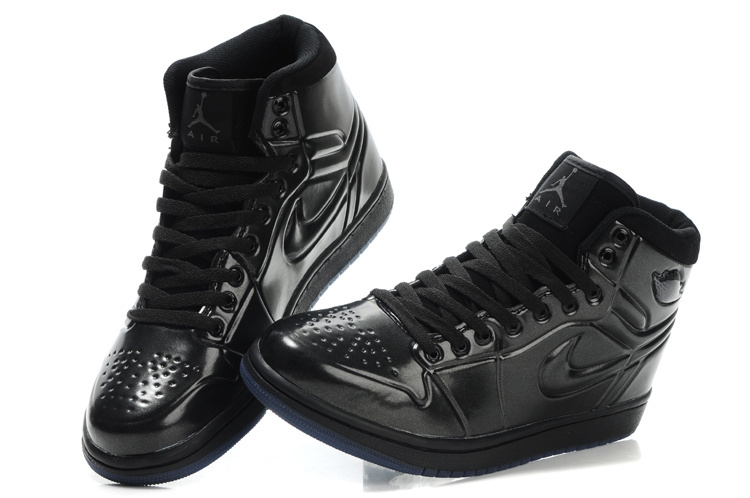Popular Air Jordan Retro 1 High Heel Shoes Black