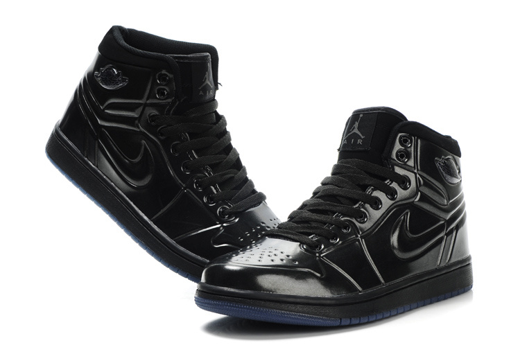 Popular Air Jordan Retro 1 High Heel Shoes Black