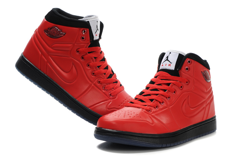 Popular Air Jordan Retro 1 High Heel Shoes Red Black