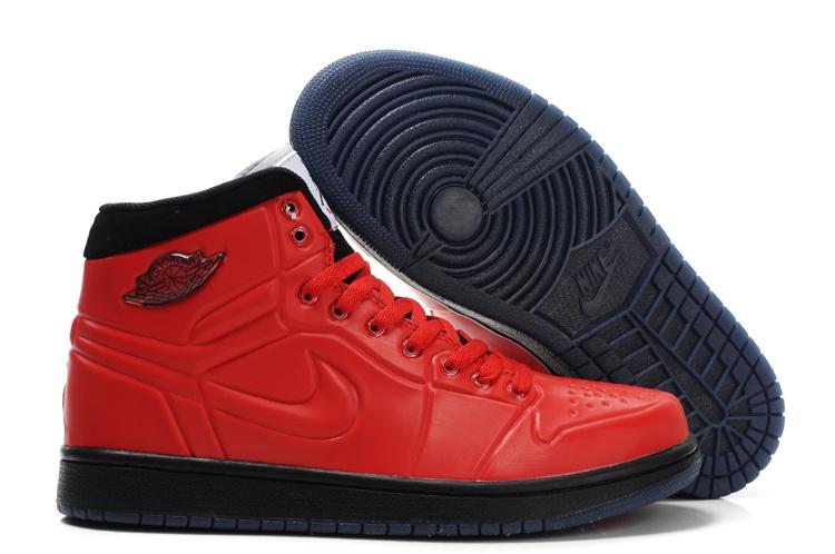 Popular Air Jordan Retro 1 High Heel Shoes Red Black