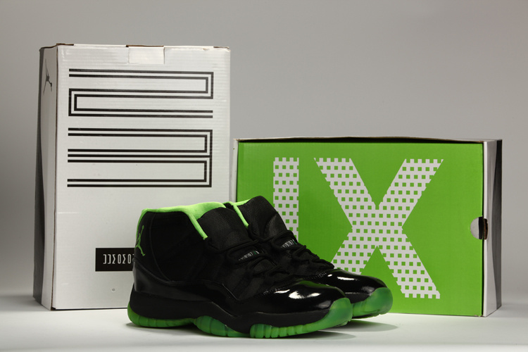 New Air Jordan 11 Black Green Shoes