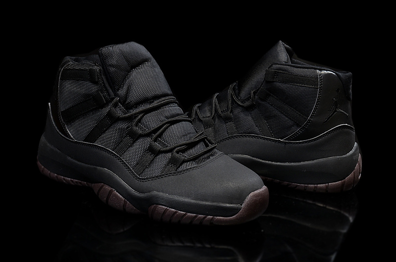 2015 Air Jordan 11 High All Black Coffe Shoes