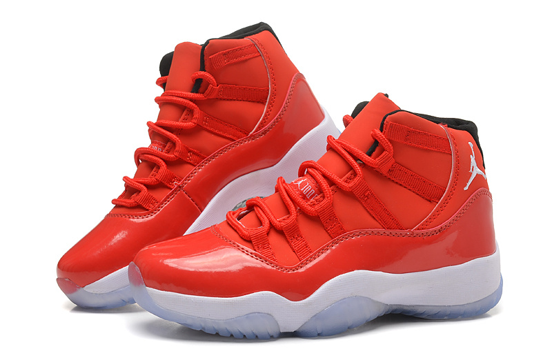 2015 New Jordan 11 Red White For Women