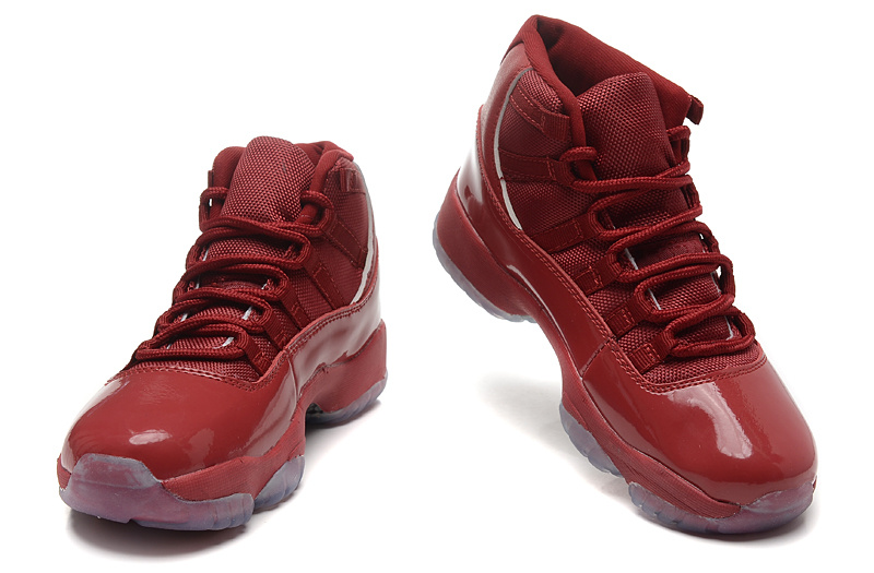 2015 New Jordan 11 All Red For Women