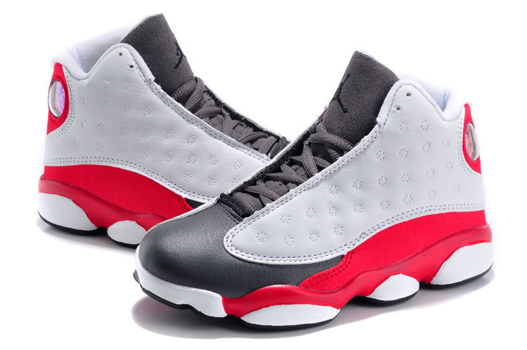 2015 New Jordan 13 Grey Red Black