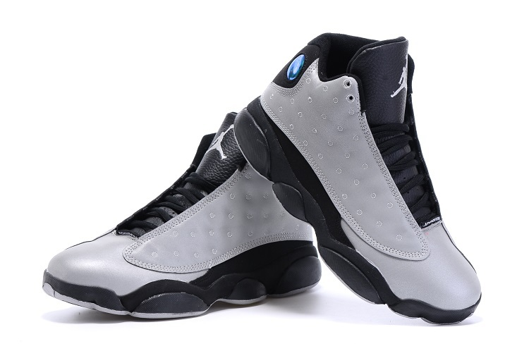 2015 Air Jordan 13 Grey Black Shoes