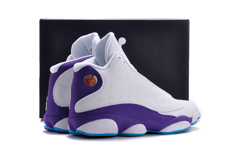 2015 New Air Jordan 13 White Purple