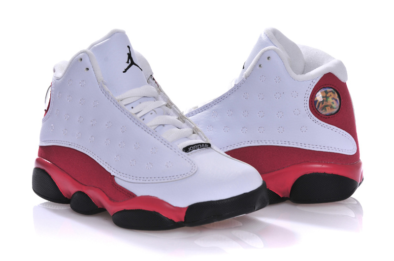 2015 New Jordan 13 White Red Black