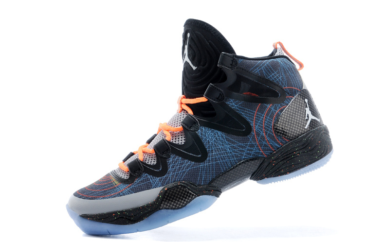 2015 Air Jordan 28 Blue Black Orange Shoes