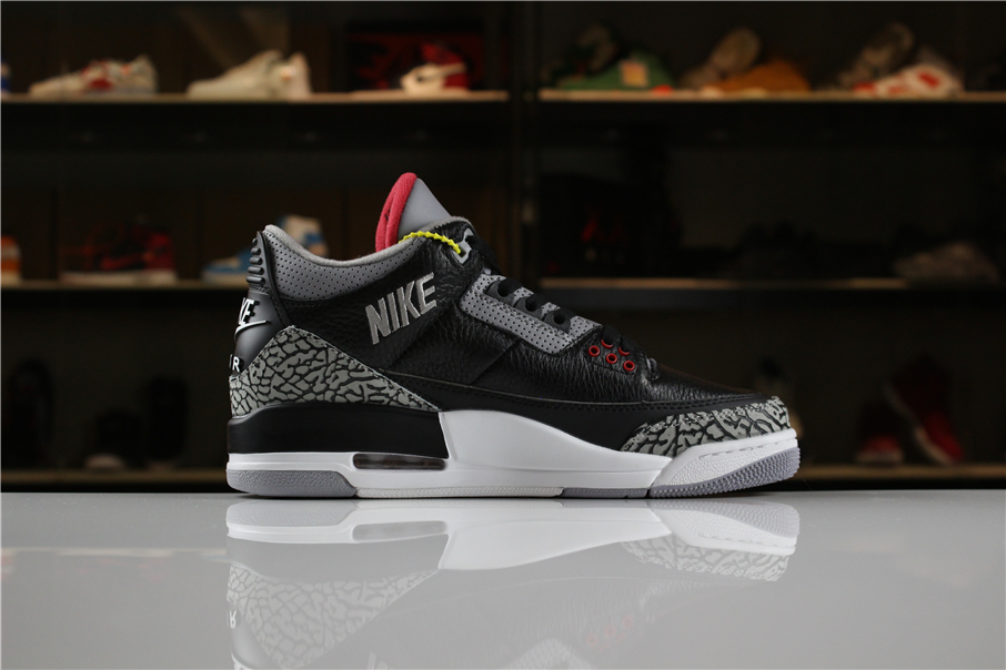 New Air Jordan 3 JTH Black Cement