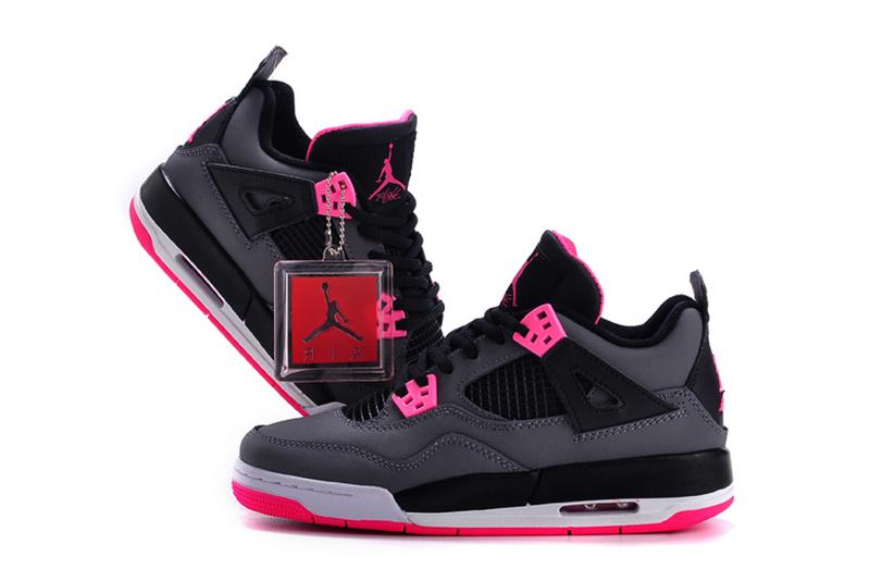 2015 New Jordan 4 GS Hyper Pink For Women