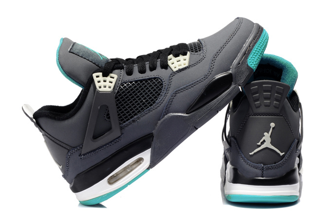 New Air Jordan 4 Grey Blue Shoes