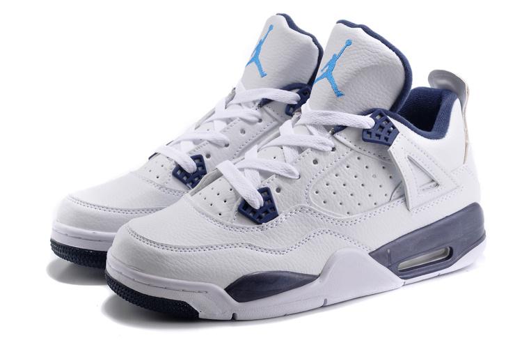 Air Jordan 4 Blue White