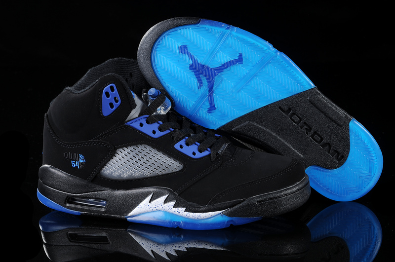 jordan 5 black and blue