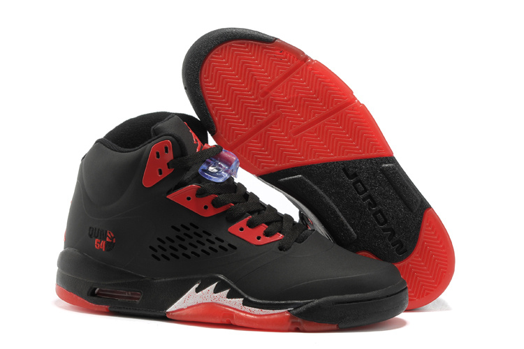 Air Jordan 5 Black Fire Red Shoes