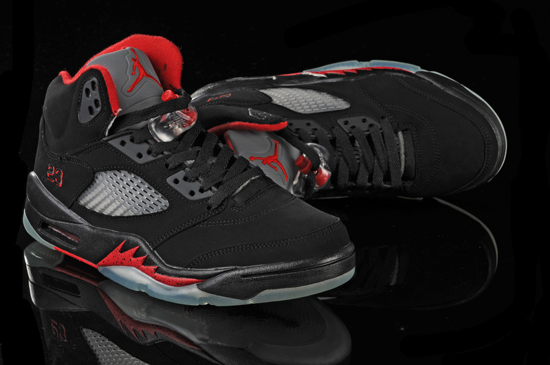 air jordan 5 black red