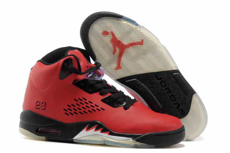 Air Jordan 5 Red Black Shoes