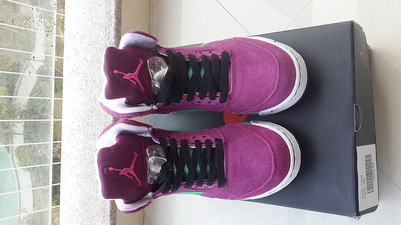 2015 New Jordan 5 Retro Purple For Women