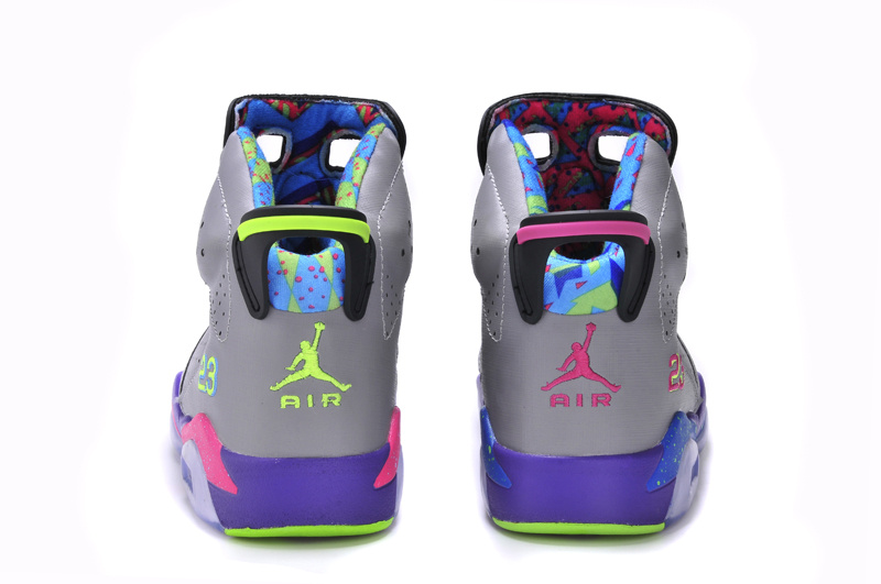 2015 New Jordan 6 Black Blue Grey - Click Image to Close