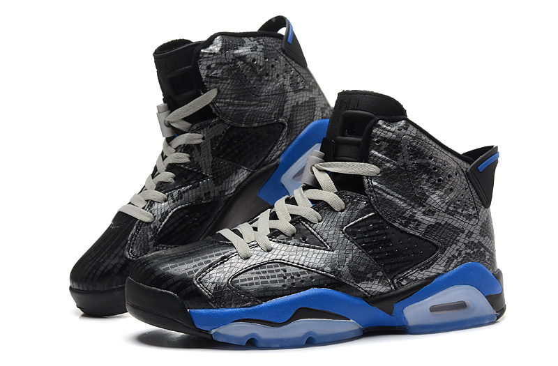 2015 New Air Jordan 6 Black Gold Shoes