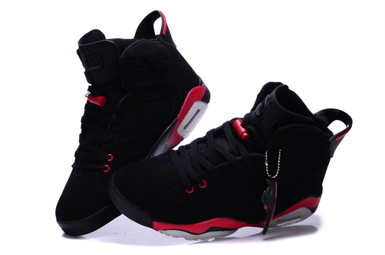 2015 New Air Jordan 6 Black Red