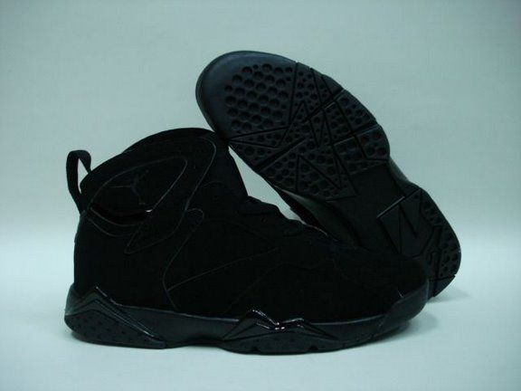 New Air Jordan 7 All Black Shoes For Sale