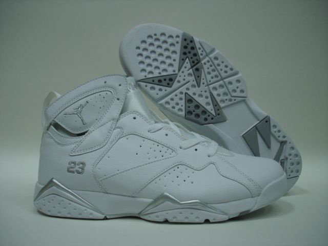 New Air Jordan 7 All White Shoes For Sale