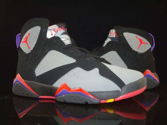 New Air Jordan 7 Grey Black Red Purple Shoes For Sale