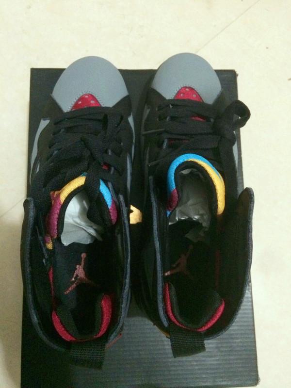 New Jordan 7 Grey Black Red Yellow