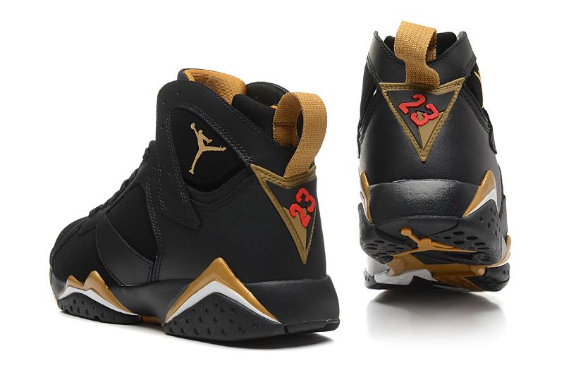 2015 New Air Jordan 7 Black Gold
