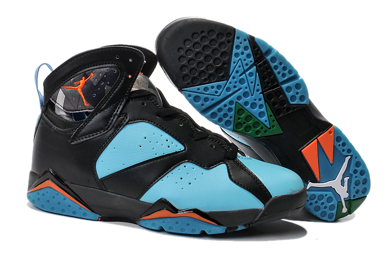 2015 New Jordan 7 Black Green Orange