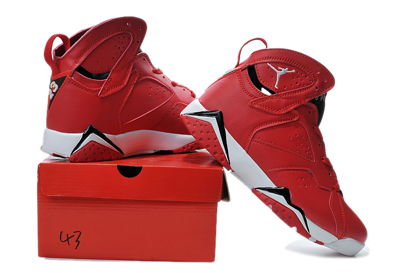 2015 New Air Jordan 7 Red White Black
