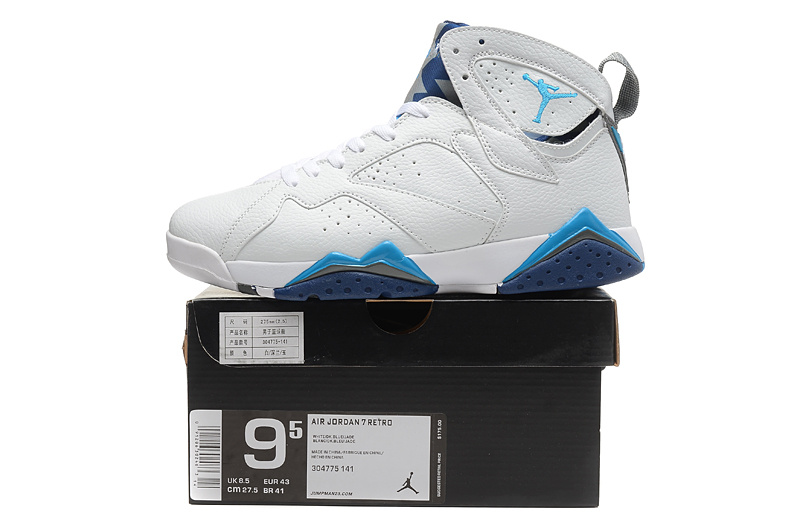 2015 New Jordan 7 White Baby Blue